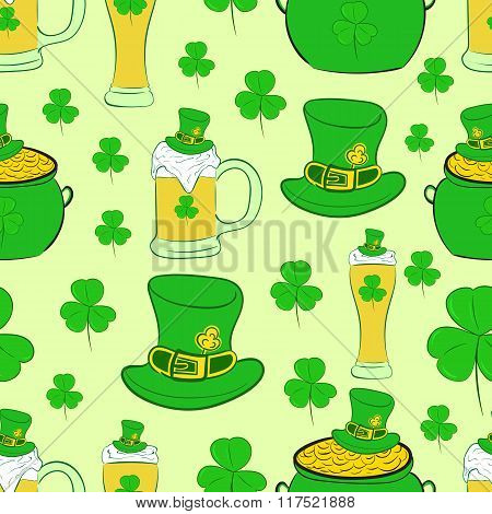 Seamless texture St. Patrick's Day