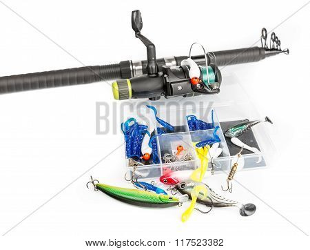 Fishing rod and baits set