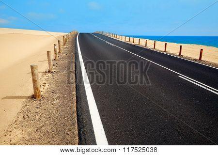 Corralejo dunes Fuerteventura desert at Canary Islands of Spain