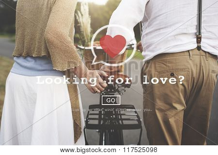 Looking for Love Valentine Romance Heart Dating Passion Concept