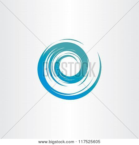 Tornado Blue Water Wave Spiral Vector Circle Background