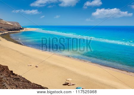 Jandia beach Mal Nombre Fuerteventura at Canary Islands of Spain