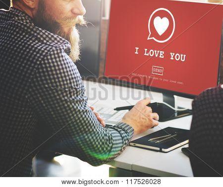 I Love You Valentine Romance Heart Love Passion Concept