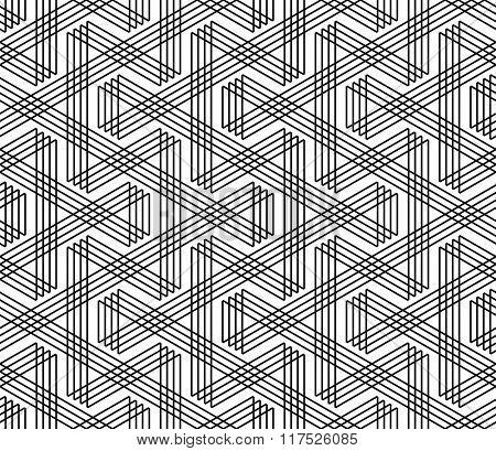 Seamless zigzag lines pattern. Geometric texture. Vector art.