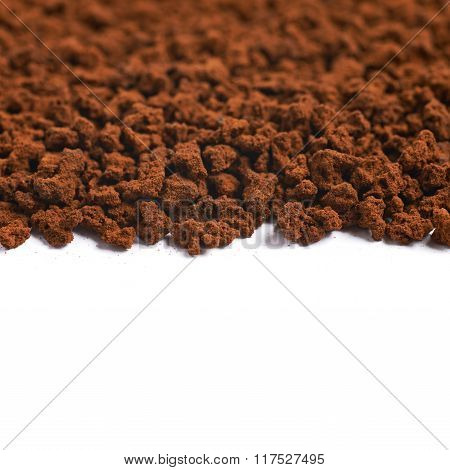 Surface coated with instant coffee