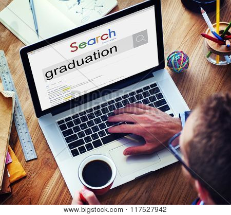 Global Search Website Browser Graduation Concept