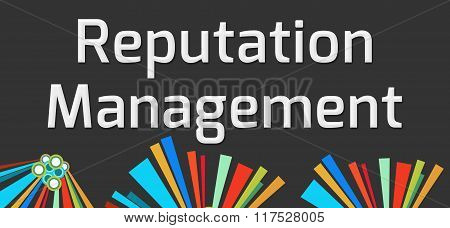 Reputation Management Dark Colorful Elements