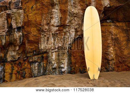 Fuerteventura La Pared beach surf board at Canary Islands Pajara of Spain