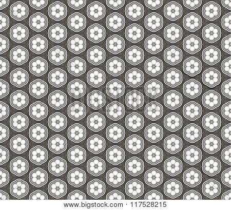 Seamless abstract 3D pattern - ceiling lamps in the shape of flowers.