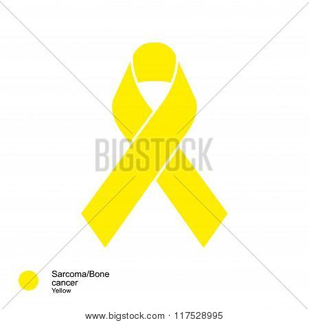 sarcoma and bone cancer ribbon vector
