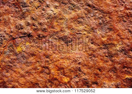 Aged rusted iron steel texture background in Canary Islands