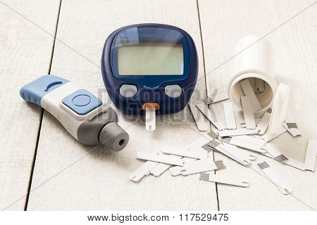 Device For Measuring The Level Of Glucose In The Blood