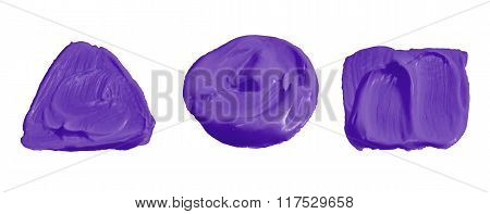 Purple Color Paint Isolated On White