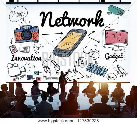 Network System Online Internet Web Concept