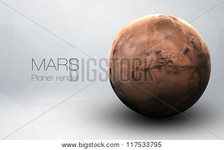 Mars - High resolution 3D images presents planets of the solar system. This image elements furnished