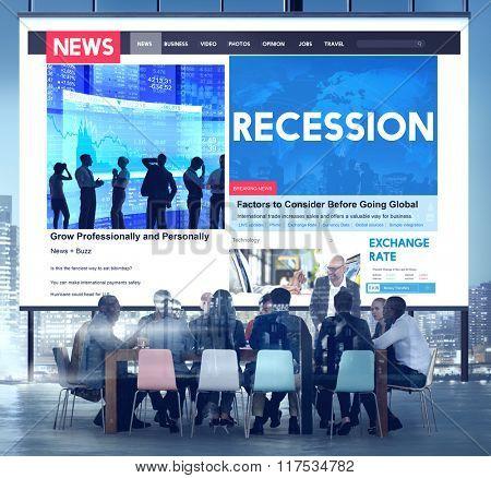Recession Fail Crisis Crash Depression Frustration Concept