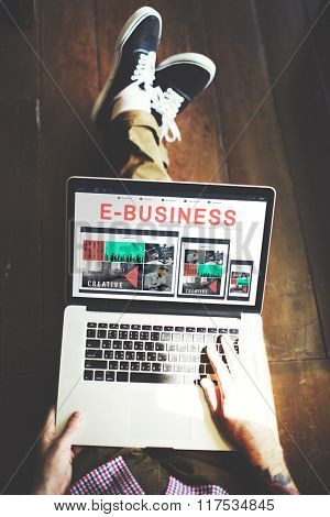 E-Commerce E-Business Internet Technology Connect Concept