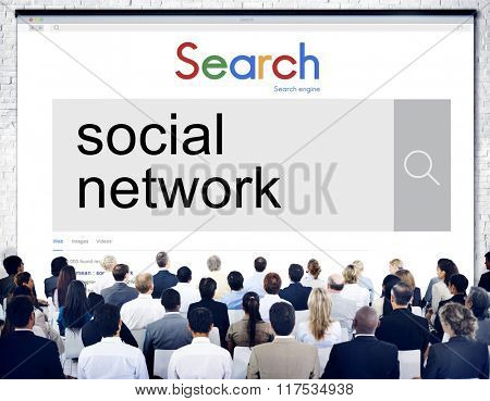 Social Network Media Connection Communication Concept