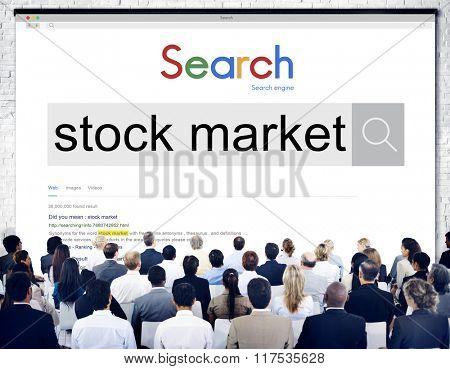 Stock Market Finance Economy Business Money Concept