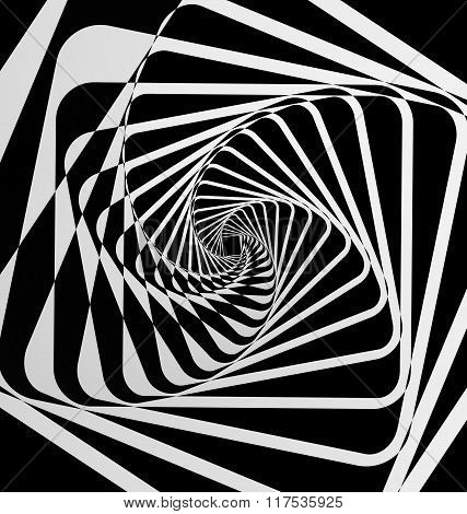 Spiral motion abstract background