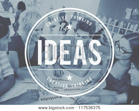 Students Ideas Brainstorming Learning Thinking Concept