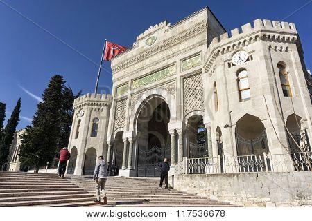 Entrance Gate Of Istanbul University, Istanbul, Turkey