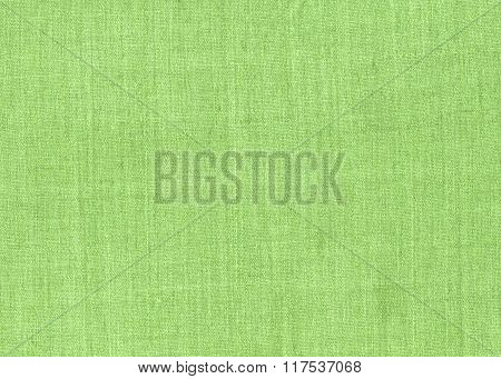 Green fabric texture for background.