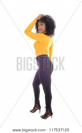 African American Woman In Tights.