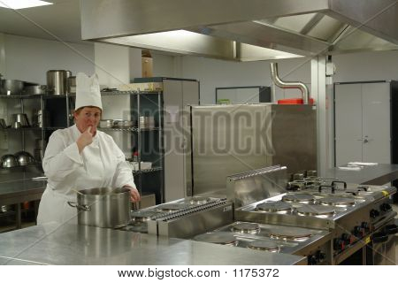 Chef In Kitchen