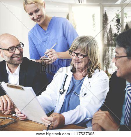 Doctor Nurse Health Hospital Team Collaboration Concept