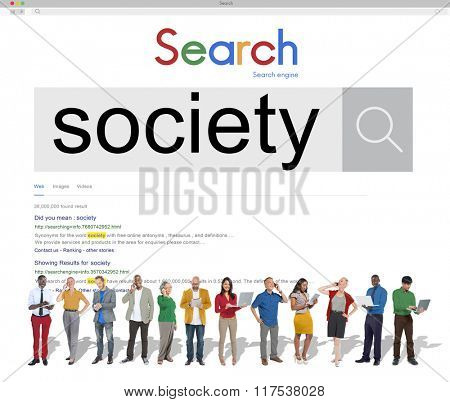 Society Connection Community Network Togetherness Concept