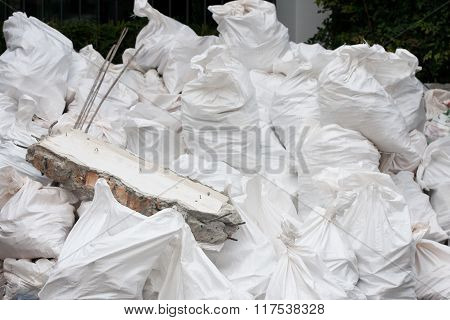 Heap Of White Bags