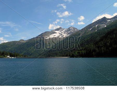 Mountain Lake Isola In Switzerland.