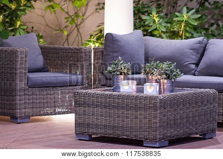 Garden Furniture In The Arbour