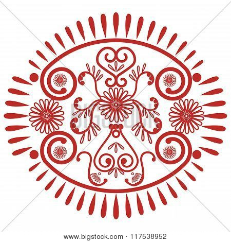 Asian culture inspired  wedding makeup mandala henna tattoo lace decoration in oval shape