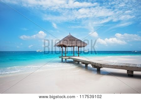 Overwater Hut With Jetty. Maldives