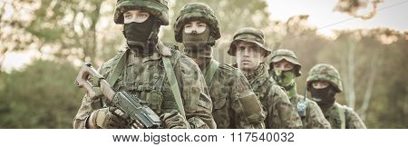 Soldiers During Drill
