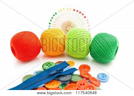 Buttons, Thread, Pins And Zipper