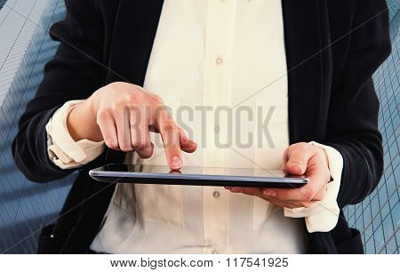 Woman With Tablet - Business Technology Concept