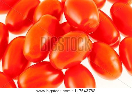 Fresh Red Tomatoes Presented On White Background