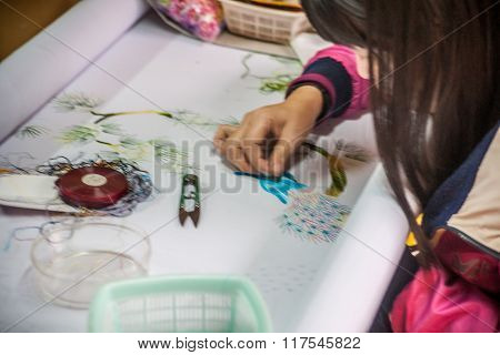hand-made embroidery