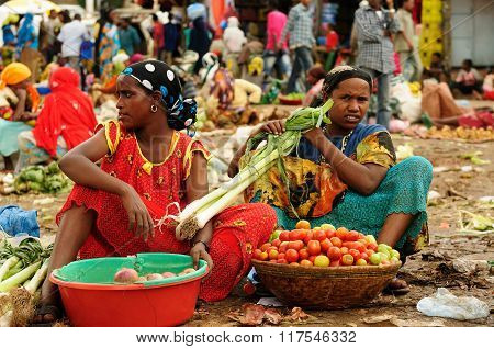 Ethnic  Woman From Ethiopian Markets