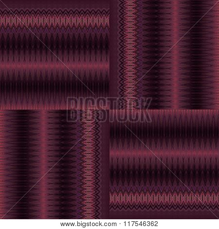 Seamless zigzag and stripes pattern red brown violet purple