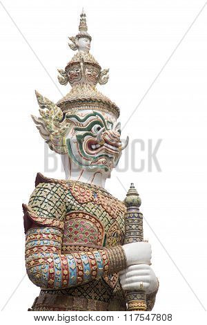 White Giant In The Temple Of The Emerald Buddha