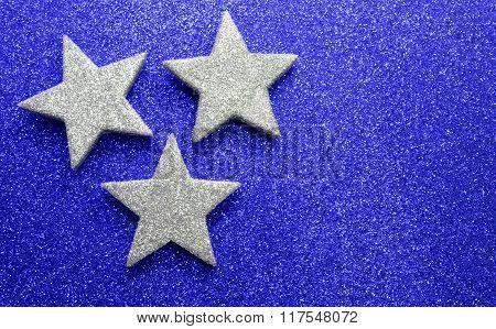 Three Big Stars On Bright Texture