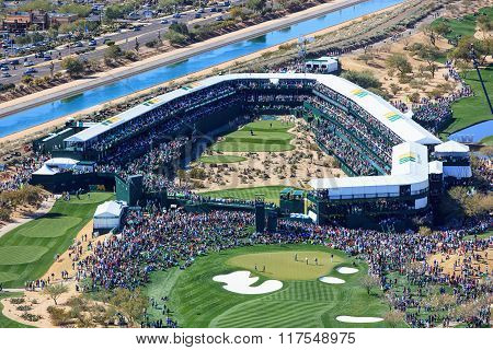 Scottsdale, Arizona, Usa-february 6, 2016-16Th Hole At The Waste Management Phoenix Open
