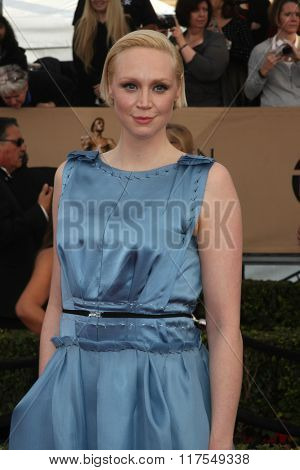 LOS ANGELES - JAN 30:  Gwendoline Christie at the 22nd Screen Actors Guild Awards at the Shrine Auditorium on January 30, 2016 in Los Angeles, CA