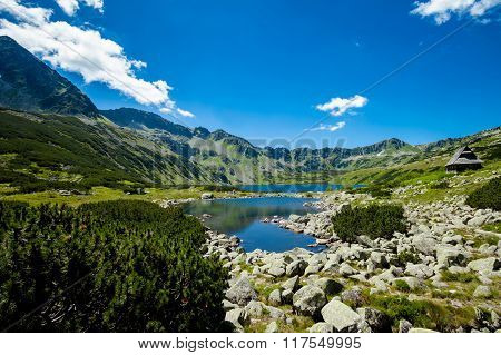 Beautiful Tatry mountains landscape Five Lakes Valley