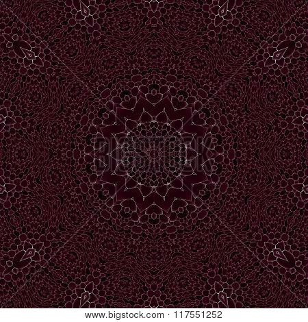 Seamless mosaic ornament dark brown white