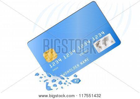 Crashed credit card